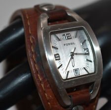 FOSSIL Women's/Ladies Watch BROWN LEATHER Gray Dial NEW BATTERY!