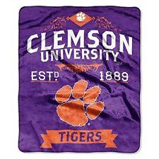 """Clemson Tigers College Label 50"""" x 60"""" Raschel Plush Blanket by Northwest"""