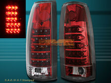 92-98 YUKON TAHOE SUBURBAN 88-99 CHEVY GMC FULL SIZE CK TAIL LIGHTS LED RED