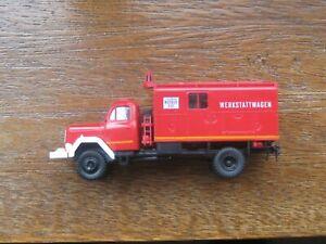 Brekina Fire Dept. Workshop Wagon. 1:87 Scale. No Box.