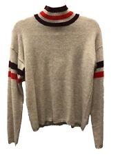 27 Miles Harlow Cashmere Mock Neck Sweater Sand Dollar Sz XS S M A30323F