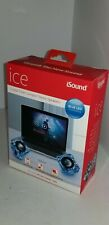 NEW Wired iSound ICE Cystal Clear Compact Stereo Speakers Blue LED  F3