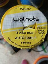 WOT-NOTS 1 CORE CABLE BLUE 6M 8A PWN688 TOP QUALITY ITEM