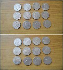 LOTTO 12 MONETE STATI UNITI UNITED STATES LIBERTY ONE DOLLAR 1971 1972 1974 1976