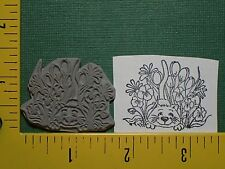 KITTY CAT IN FLOWERS Cute KITTEN ANIMAL unmounted UM Rubber Stamp 501