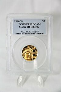 MODERN COMMEMORATIVES 1986-W STATUE OF LIBERTY $5 PCGS PR69 DCAM