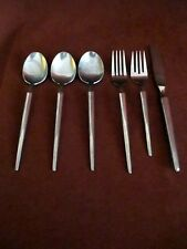 Chivalry Forged Stainless 6pc knife, dinner fork, salad fork, 3 table/soup spoon