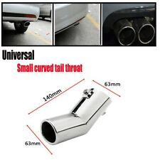 1x 63MM Car Silver Rear Round Muffler Tail Cover Exhaust Pipe Exterior Durable
