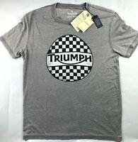 NWT NEW Men's Lucky Brand Triumph Motorcycle Checker T-Shirt Top Tee Choose Size