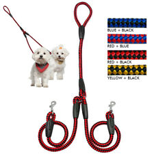 Strong Nylon 2 Way Dog Walking Double Lead Duplex Coupler Leash for Twin Dogs