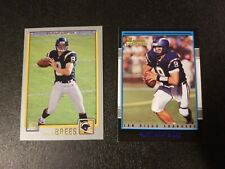 Drew Brees 2001 Topps Bowman Rc 2 Card Lot