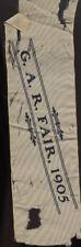 1905 GAR FAIR RIBBON