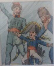 Napoleonic original print depicting Napoleon Boneparte being twarted by Russia