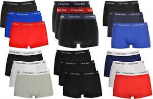 Men's Calvin Klein CK Boxer Shorts Trunks Cotton Underwear 3 Pack 100% Genuine
