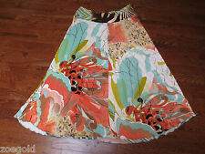 ROBERTO CAVALLI CLASS 100% VISCOSE MULTI-COLOR LONG SKIRT 12 WITH HOLOGRAM