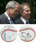 Tony Blair & George W. Bush Signed Autograph Baseball - W/ Provenance & JSA LOA