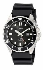 Casio Analog Watch, Black Resin, Date, 200 Meter MDV106-1
