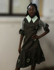 Girls African dress Ankara dress with collar Traditional clothes for 14-15yrs