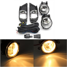 Pair Front Bumper Fog Light Bulbs & Grilles Harness Kit For Toyota Camry 07-09