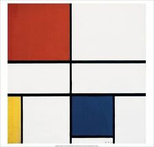 PIET MONDRIAN Composition C (no. III) with Red, Yellow, Blue ART PRINT 19.5x19.5