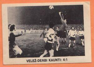 Football sticker Velez Mostar vs Derby County game 1974 Yugoslavia edit 1980's