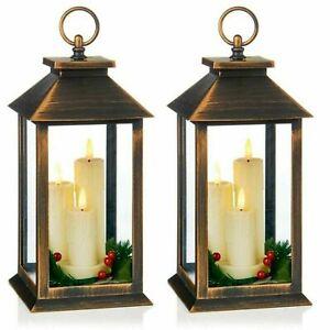 led candle Lantern LED Battery Operated - 27cm