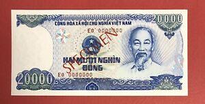 VIETNAM - Specimen 20.000 Dong 1991-93 Pick# 110s UNC. (#161)