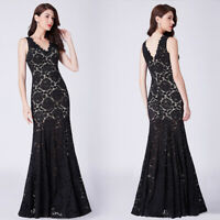 UK Ever-Pretty Woman Lace Long Evening Party Dress Fishtail Prom Ball Gown 07389