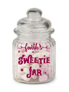 Personalised Sweets Treats Sticker label Mason Jar Tin Kids birthday xmas treats