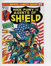 SHIELD 2 - VF+ 8.5 - NICK FURY - STERANKO FLAG COVER (1973)