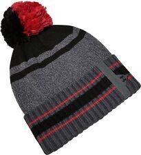 Under Armour Pom Pom Beanie Grey Stretch Knit Relaxed Warm Mens Winter Golf Hat