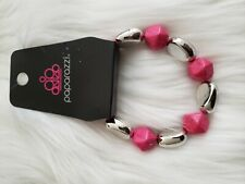 Woman's Silver and Pink Bracelet