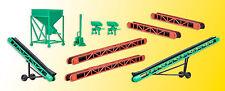 kibri 38606 Spur H0, Deko-Set Förderbänder und Schüttsilo #NEU in OVP#