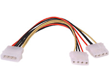 2 * Y Splitter 4 Pin Molex IDE Cavo di Alimentazione PC CD DVD HD