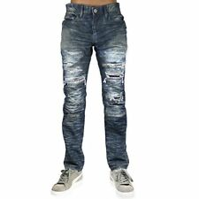 New Men's Jordan Craig Oil Blue Destroyed Biker Jean Size 40x32 Brand New!