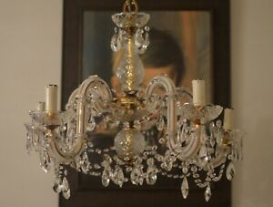 Bohemian Crystal Chandelier 5 arms