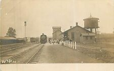 Wisconsin, WI, Concord, W & P Depot, Train, Railroad Station Real Photo PC