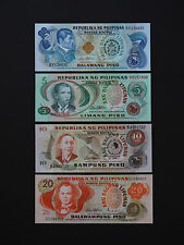 PHILLIPINES BANKNOTES  -  EXCELLENT SET OF FOUR HISTORIC NOTES  -  QUALITY UNC