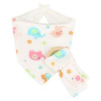 High Quality Cotton Bamboo Fiber Newborn Baby Bib Teething Toy Birthday Gifts