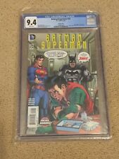 Batman-Superman 29 CGC 9.4 White Pages- Neal Adams Green Lantern 85 Homage Drugs