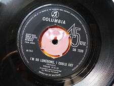 FRANCK IFIELD I'm so lone some i could cry / lonesome number one DB 7520