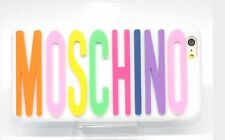 White Silicone Moschino  Logo  Phone Case Cover for iPhone 6