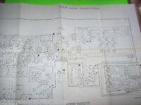 """STERN 19"""" LARGE FOLD-OUT COLOR MONITOR SCHEMATIC WIRING DIAGRAM K4602-5796"""