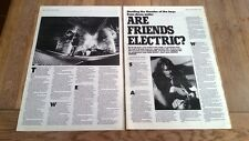 AC/DC 'are friends electric' 1987  2 page  UK ARTICLE / clipping