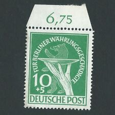 Germany 1949 Stamp MINT Offering Plate & Berlin Bear GERMAN OCCUPATION SEMI-POST