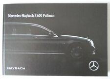 MERCEDES BENZ MAYBACH S600 PULLMAN orig 2017 UK Mkt Prestige HARDBACK Brochure