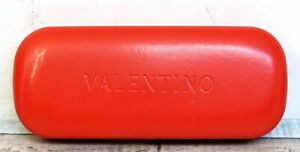 """Sz 6""""x1""""x2.5"""" Valentino RED LEATHER SUNGLASSES GLASSES HARD CLAM SHELL CASE"""