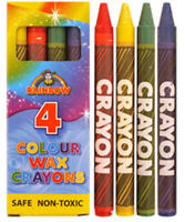 12 Packets Of Wax Crayons - Toy Loot/Party Bag Fillers Wedding/Kids Colouring