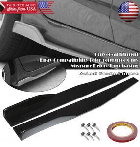 "29"" Black Side Skirt Splitter Winglet Wing Canard Diffuser For Subaru Mazda ...."