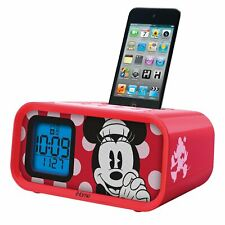 IHome Minnie Mouse Dual Alarm Clock and 30-Pin iPod Speaker Dock DM-H22